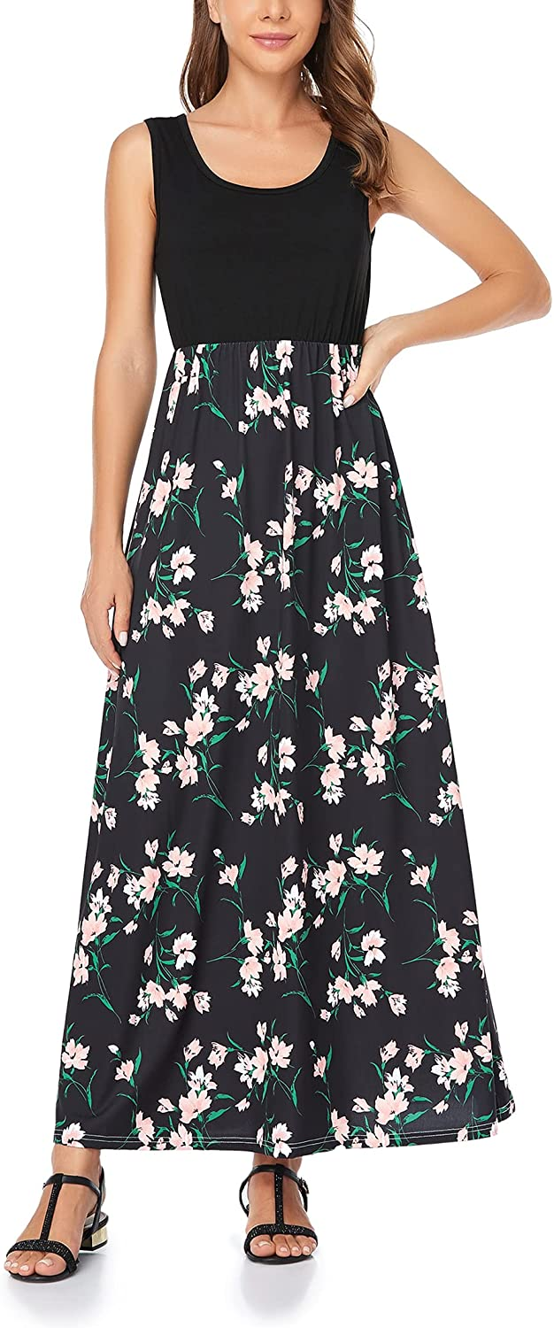 Mommy Jennie At the price Women's Summer Dresses Floral Sleeveles Print Popular brand Loose