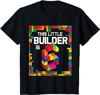 Kids 6 Year Old Building Blocks Birthday T Shirt Brick 6th Gift