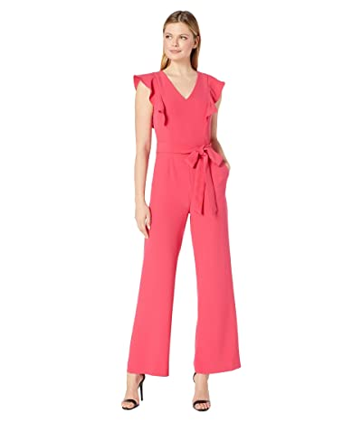 Tahari by ASL Ruffle Jumpsuit (Raspberry) Women