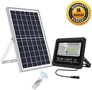 Solar Flood Lights Outdoor LED Dusk to Dawn 1500 Lumens Super Bright Waterproof Security Light with Remote