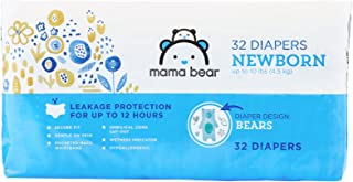 Amazon Brand - Mama Bear Diapers, Newborn, 32 Count, Bears Print [Packaging May Vary]