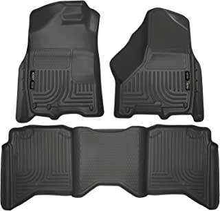 Husky Liners 99001 Black Weatherbeater Front & 2nd Seat Floor Mats Fits 2009-18, 2019 1500 Classic, 2010-18 Dodge Ram 2500/3500 Crew Cab
