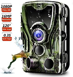 Trail Camera, Binrrio 16MP 1080P Game Hunting Camera with...