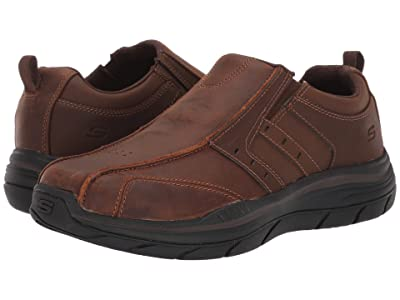 SKECHERS Relaxed Fit Expected 2.0 Wildon (Dark Brown) Men