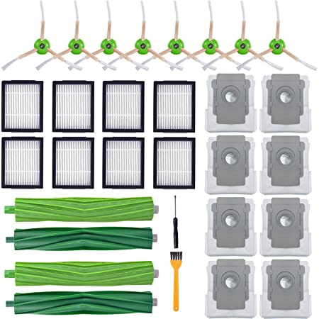 Roller Side Brush Filter Kits Parts for iRobot Roomba i7 i7+ i7 Plus E5 E6 E7