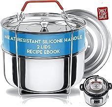 Silva Stackable Pressure Cooker Accessories Compatible with Instant pot 6 qt + 2 Lids + Safety Handle+ Recipe E-Book - Pot...