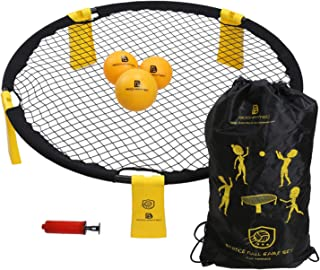 Bochamtec Strikeball 3 Ball Game Kit - Updated Bounce Net Includes Playing Net, 3 Balls, Carring Bag, Rule Book