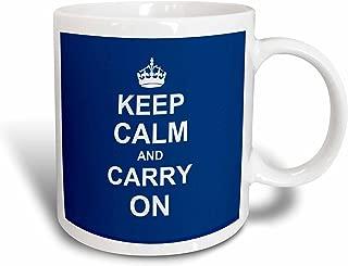 3dRose 157690_1 Keep Calm and Carry On Mug, 11 oz, Ceramic