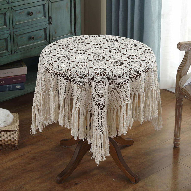 William 337 Vintage Crochet Tischdecke Handarbeit häkeln (Quadrat-120  120cm) (Farbe   Beige, größe   120  120cm) B07CWT3YKK Mittlere Kosten  | Schön In Der Farbe