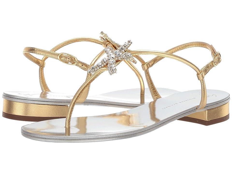 Giuseppe Zanotti Hali Starfish Crystal Thong Sandal (Metal Mekong) Women
