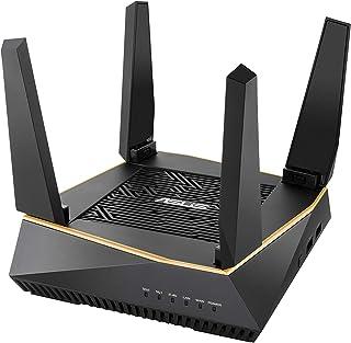 ASUS RT-AX92U - Router Gaming Wi-Fi 6 AX6100 Tri-Banda Gigabit (OFDMA, MU-MIMO, Triple VLAN, Modo Punto de Acceso, AiProtection Pro con Trend Micro, Adaptive QoS, soporta Ai Mesh WiFi)