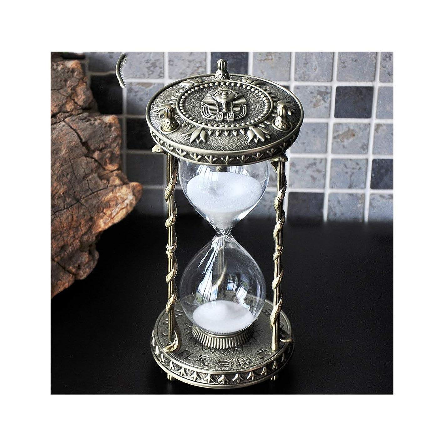 端チーム群衆XIONGHAIZI 砂時計、金属砂時計30分タイマー、創造的な装飾品、ホームデコレーション、ギフト、卓上装飾品 (Size : 30 minutes)