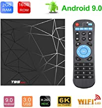 Android TV Box Android 9.0 OS Smart TV Box Media Player 2GB 16GB T95 MAX Support USB 3.0 2.4GHz WiFi 3D 4K Full HD H.265 100M Ethernet [2020 New] TTV Box