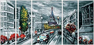 Art Amori mordern art parisset of 5 MDF Painting Multicolour 12x18 Inch - 1 Piece + 6x18 Inch-4 pieces for Wall Paintings...
