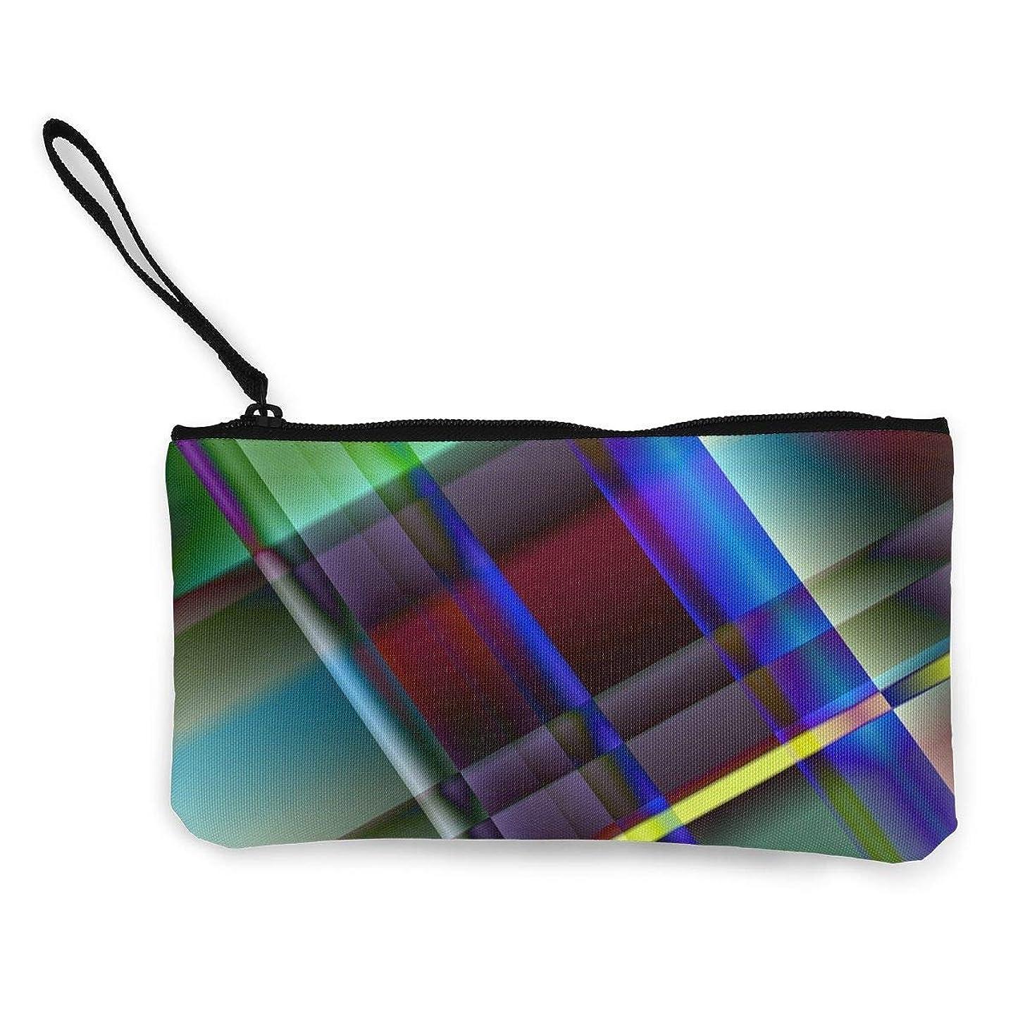 サーカス考え機密ErmiCo レディース 小銭入れ キャンバス財布 ガラス 金属 棒 白熱 小遣い財布 財布 鍵 小物 充電器 収納 長財布 ファスナー付き 22×12cm