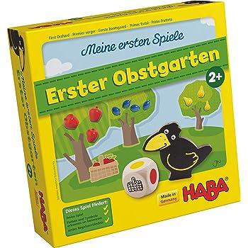 HABA 4655 - Mes premiers jeux - le premier verger - jeu éducatif de couleurs et de formes en bois - 2 ans version allemande
