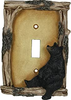 River's Edge Products 617 Bear Single Switch Electrical Cover Plage