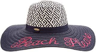 Panama Jack Women's Sun Hat - Packable, Lightweight Paper Braid, UPF (SPF) 50+ Sun Protection, 5