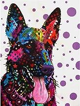 (24x34cm)3D Diamond Embroidery Dog 5d DIY Diamond Painting German Shepherd Cross Stitch Picture of Rhinestones Full Square Diamond Mosaic