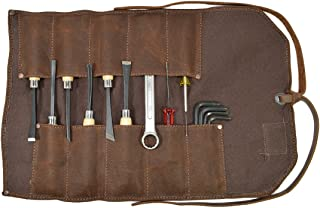 Waxed Canvas Small Tool Roll Handmade by Hide & Drink :: Honey Bourbon