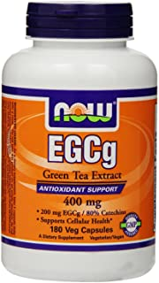 NOW Foods EGCg, Green Tea Extract, 400mg, 180 Vcaps, Pack of 3