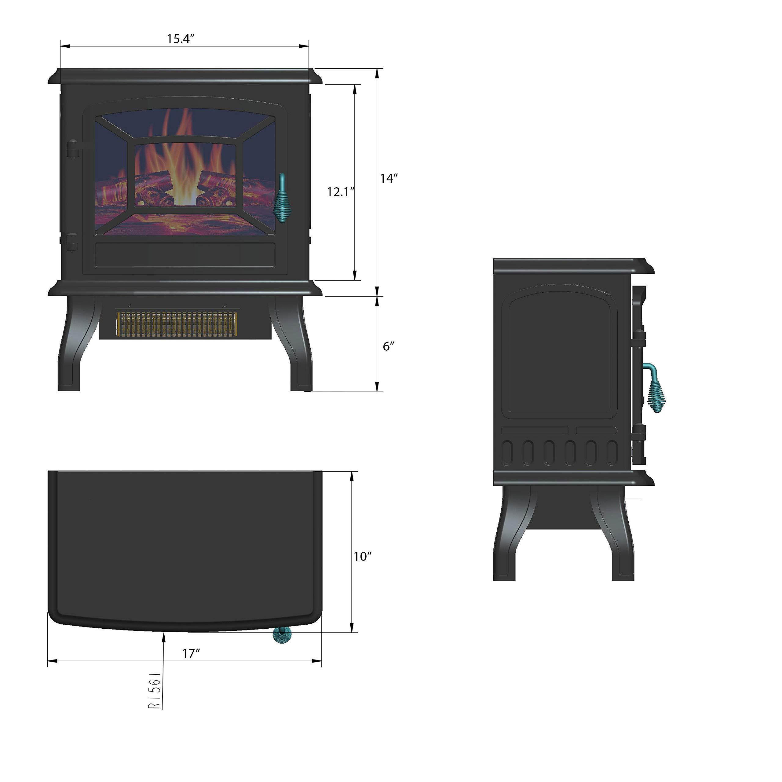 AKDY 20 Retro Style Floor Freestanding