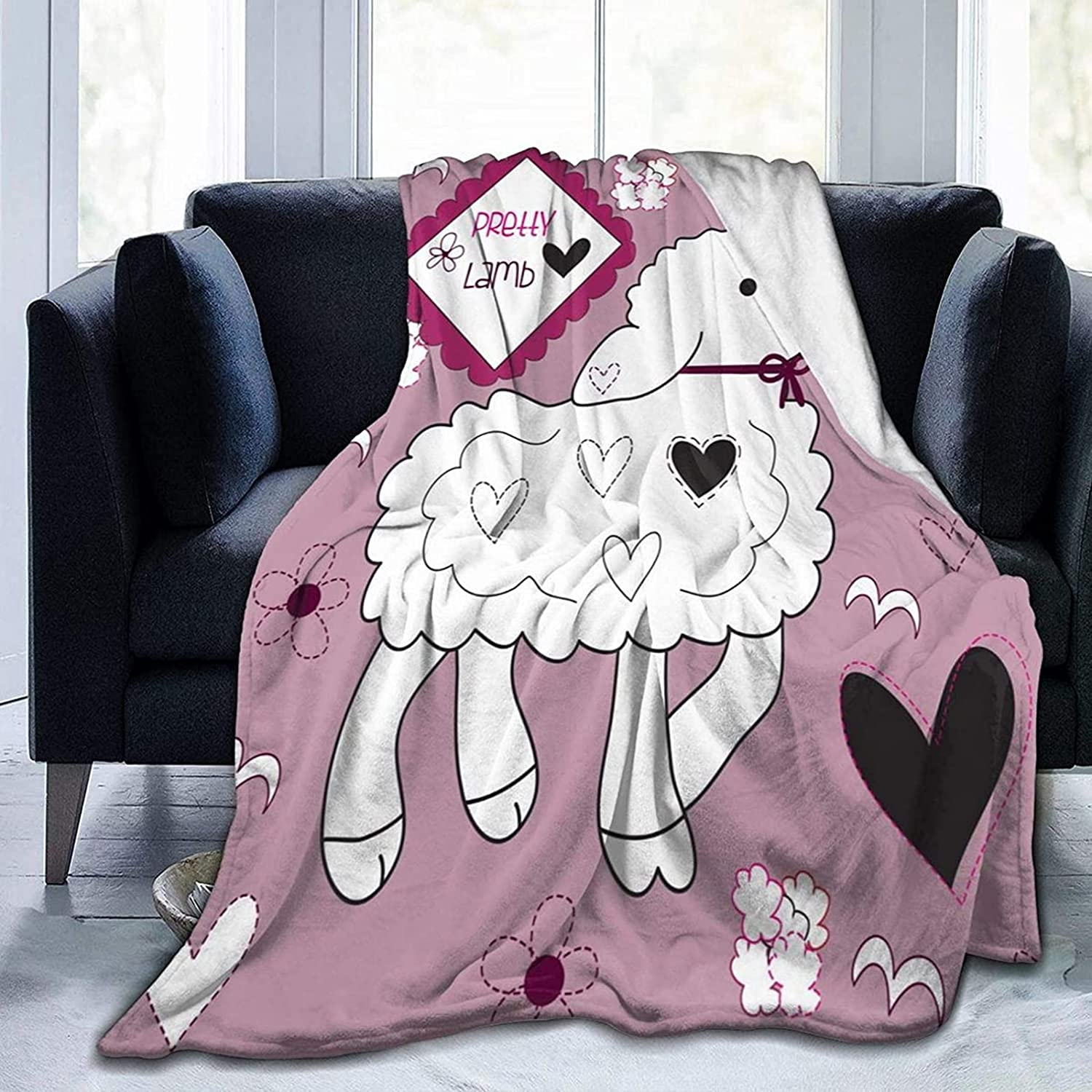Fleece Blanket Throw Houston Mall and Max 84% OFF Throws So Lightweight Lamb Cute Super