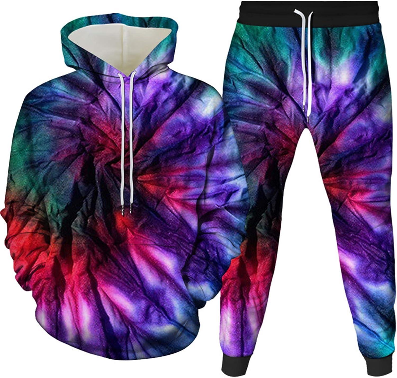 Honeystore Regular dealer Unisex 70% OFF Outlet Tie Dye Tracksuit P Pants LGBT Rainbow Hoodies