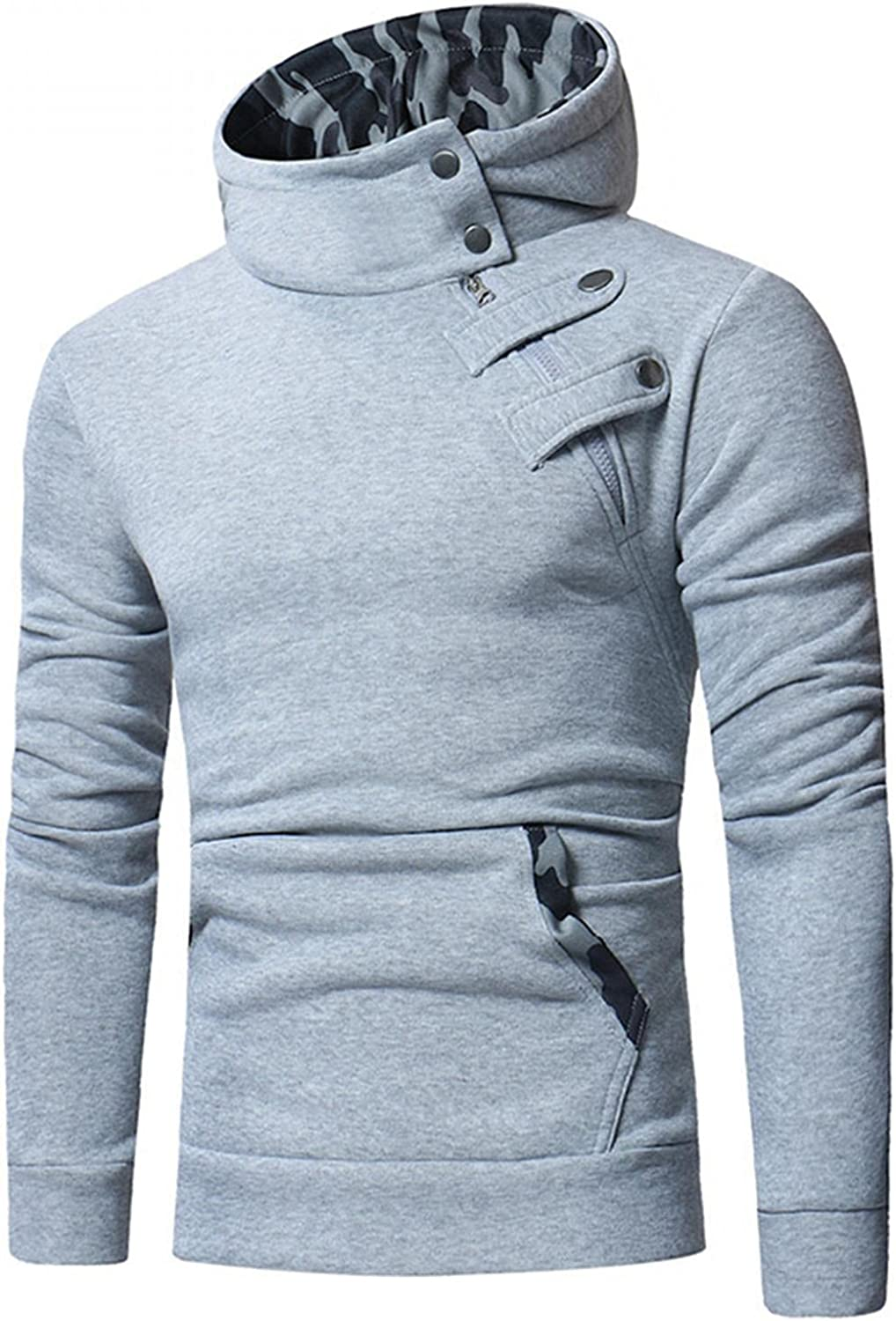 Aayomet Hoodies Sweatshirts for Men Solid Tops Long Sleeve Athletic Workout Hooded Pullover Blouses Sweaters with Pocket