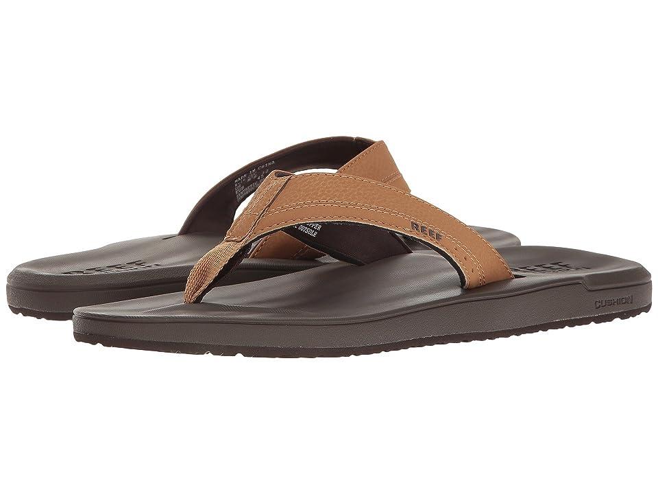 Reef Contoured Cushion (Brown) Men's Sandals