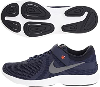 9af37a3092f66 NIKE Men's Midnight Navy/Cool Grey Revolution 4 Flyease Running Shoes  (AA1729-400