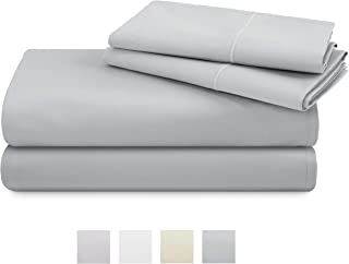 TRIDENT 600 Thread Count Full Sheets, 100% Cotton, Sateen Weave, deep Pockets fit Upto 18