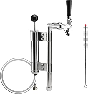 MRbrew Keg Party Beer Pumps, Heavy Duty Draft Beer Picnic Party Pump Keg Tap Upright Convertor with Tall Metal Pump Assemblies 8
