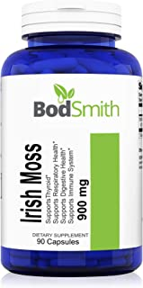 Irish Moss (Sea Moss) 900mg Max Strength 90ct Capsules Supports Immune System,Respiratory Health, Digestive Health and Thyroid.*(Seamoss)(Chondrus crispus)(Irishmoss)