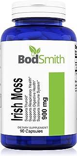Irish Moss (Sea Moss) 900mg Max Strength 90ct Capsules Supports Immune System,Respiratory Health, Digestive Health and Thy...