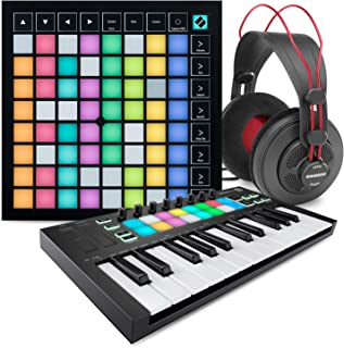 Novation Launchpad X Ableton Live 8x8 Grid Controller W/Software Bundle + Novation Launchkey Mini MK3 25-Key USB MIDI Keyb...