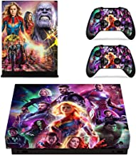 Decal Moments Xbox One X Console Controllers Skin Set Vinyl Skin Sticker Decals Cover for Xbox One X(XB1 X) Console Avengers