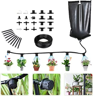 Garden Irrigation System Indoor Automatic Plant Irrigation System Hose Kit - Water Drip System for Outdoor Plants Tubing K...