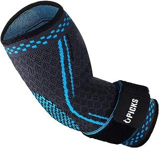 comprar comparacion Codo deportivo Brace Manga de compresión Soporte para brazo Manga elástica con correa para golfista, Tenis, Levantamiento ...