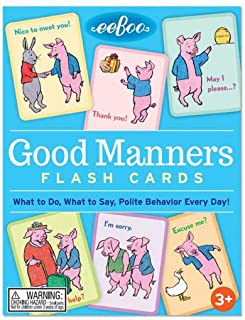 eeBoo Good Manners Flash Cards for Kids, 1 ea