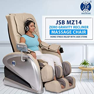JSB MZ14 Zero Gravity Recliner Massage Chair for Home Stress Relief with Jade Stone Deep Muscle Relaxing Heating (Beige)