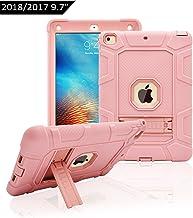 Dailylux Funda iPad 9.7 ulgada 2017/2018 Esquina Parachoques Amplificación de Sonido Protección de Alta Resistencia y Protector Incorporado de Pantalla para Apple iPad 9,7 Pulgada 2017 -Oro Rosa