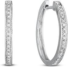 Best hoop diamond earrings Reviews