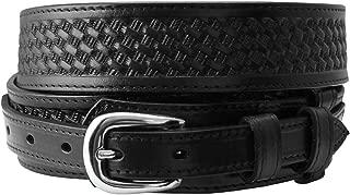 James Western Basketweave Leather Embossed Ranger Belts