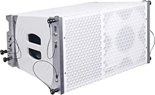 "Sound Town ZETHUS Series 10"" Two-Way Line Array Loudspeaker System with Titanium Compression Driver, White (ZETHUS-110W)"