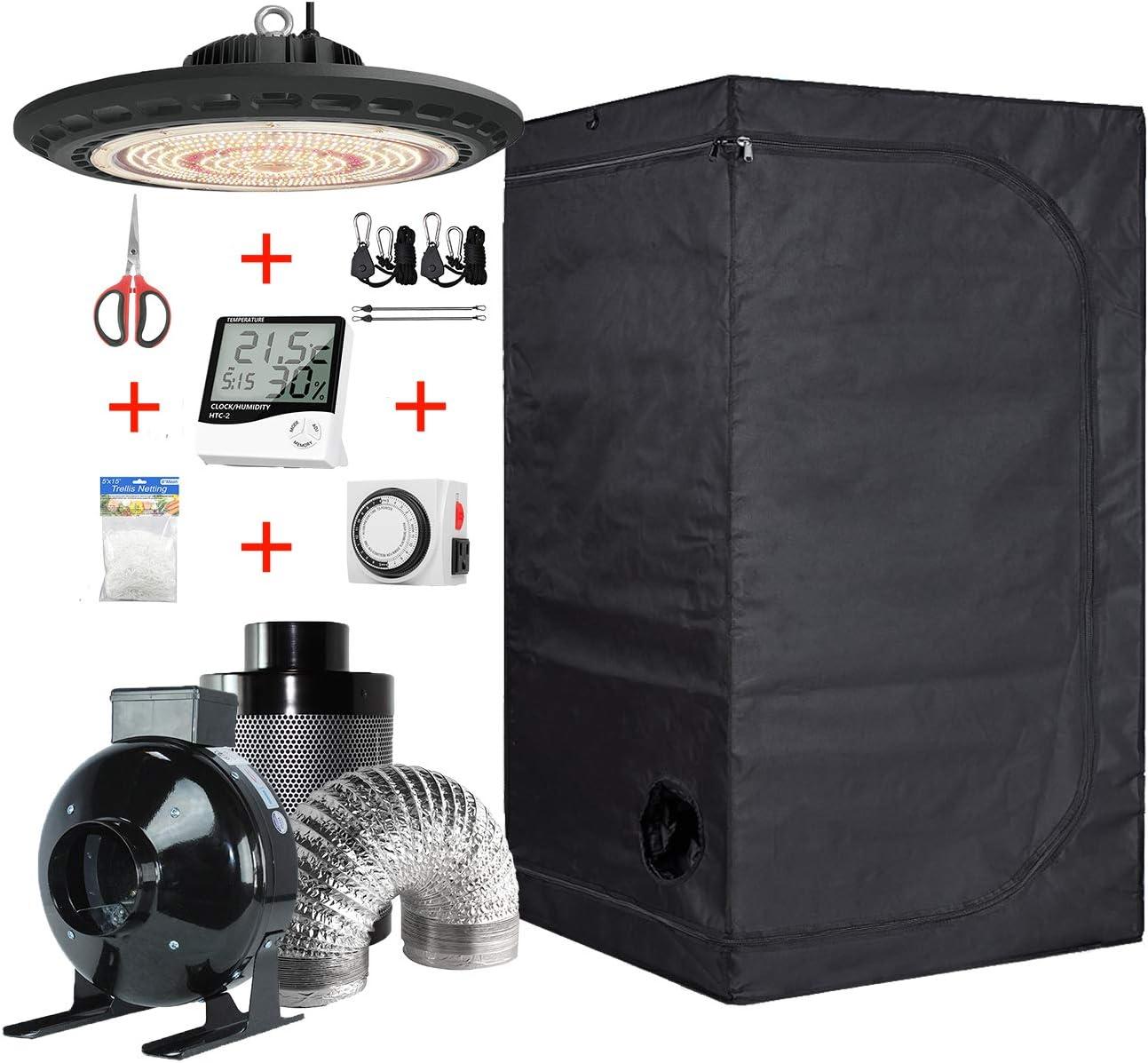 Hydro Max 78% OFF Plus Growing Tent Kit 3X3 Grow LED 200W Room UFO Sacramento Mall Gro +
