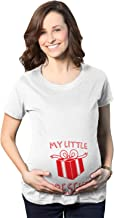 Crazy Dog T-Shirts Maternity My Little Present Funny Bump Christmas Pregnancy Announcement T Shirt