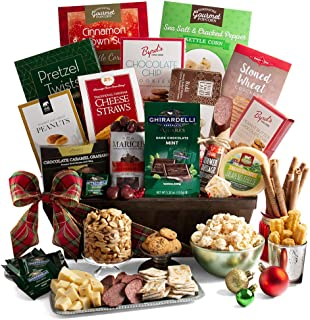 2019 Christmas Gift Basket of Gourmet Holiday Foods - Holiday Gift Basket of Chocolates, Cookies, Popcorn, and Snacks