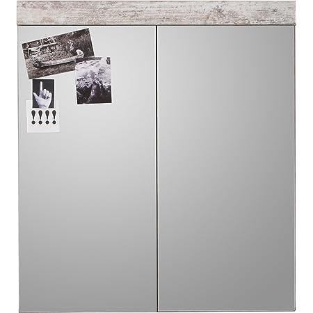 Maisonnerie 1259-405-68 Miroir Meuble Salle de Bain Blanc LxHxP 72 x 79 x 17 cm