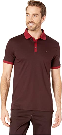 Short Sleeve Polo with Contrast Trim